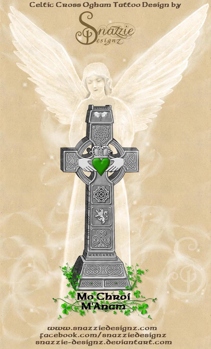celtic cross in memoriam tattoo design by snazzie designz on deviantart. Black Bedroom Furniture Sets. Home Design Ideas