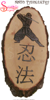 Ninpo Kanji and Ninja Pyrograph