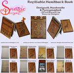 Handmade Refillable Hardback Books Journals