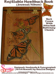 Refillable Hardback Butterfly Book Back Cover