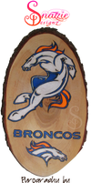 Denver Broncos Pyrograph Woodburning