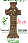 Celtic Cross Pyrograph Test Piece