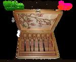 Handmade Chisel Box - Inside Pyrograph by snazzie-designz