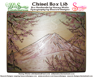 Handmade Chisel Box - Outside Lid Pyrograph
