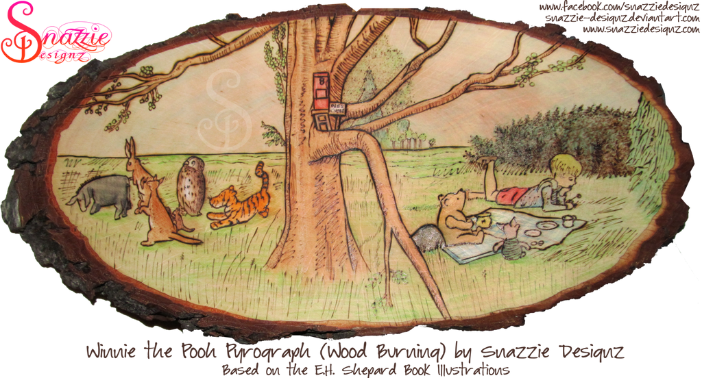 Winnie the Pooh Pyrograph by snazzie-designz