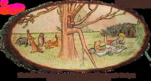 Winnie the Pooh Pyrograph