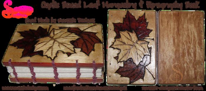 Handmade Coptic Bound Leaf Book - Outside Covers