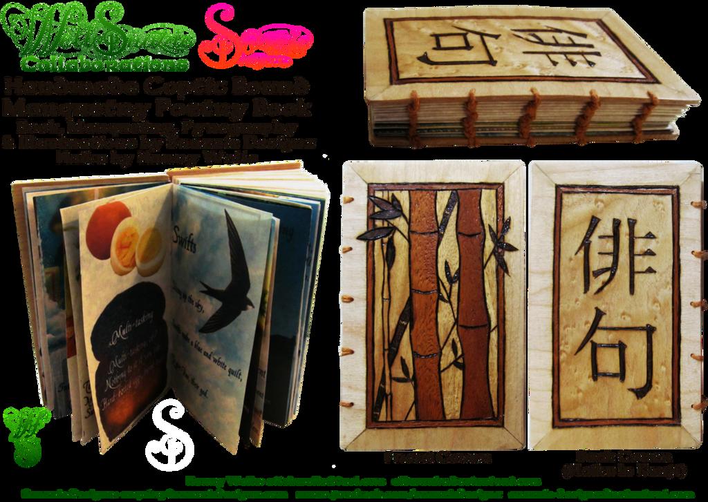 Handmade Coptic Bound Haiku Book by snazzie-designz