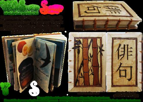 Handmade Coptic Bound Haiku Book