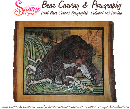Bear Carving and Pyrography (Wood Burning)