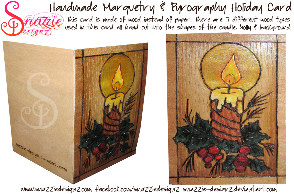 Handmade Wooden Holiday Card by snazzie-designz