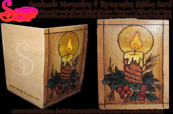Handmade Wooden Holiday Card