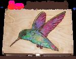 Hummingbird Pyrograph (Wood Burning)
