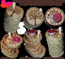 Handmade Coasters/Tea Light Holders 02 by snazzie-designz