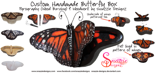 Custom Butterfly Box With Opening Wings Lid