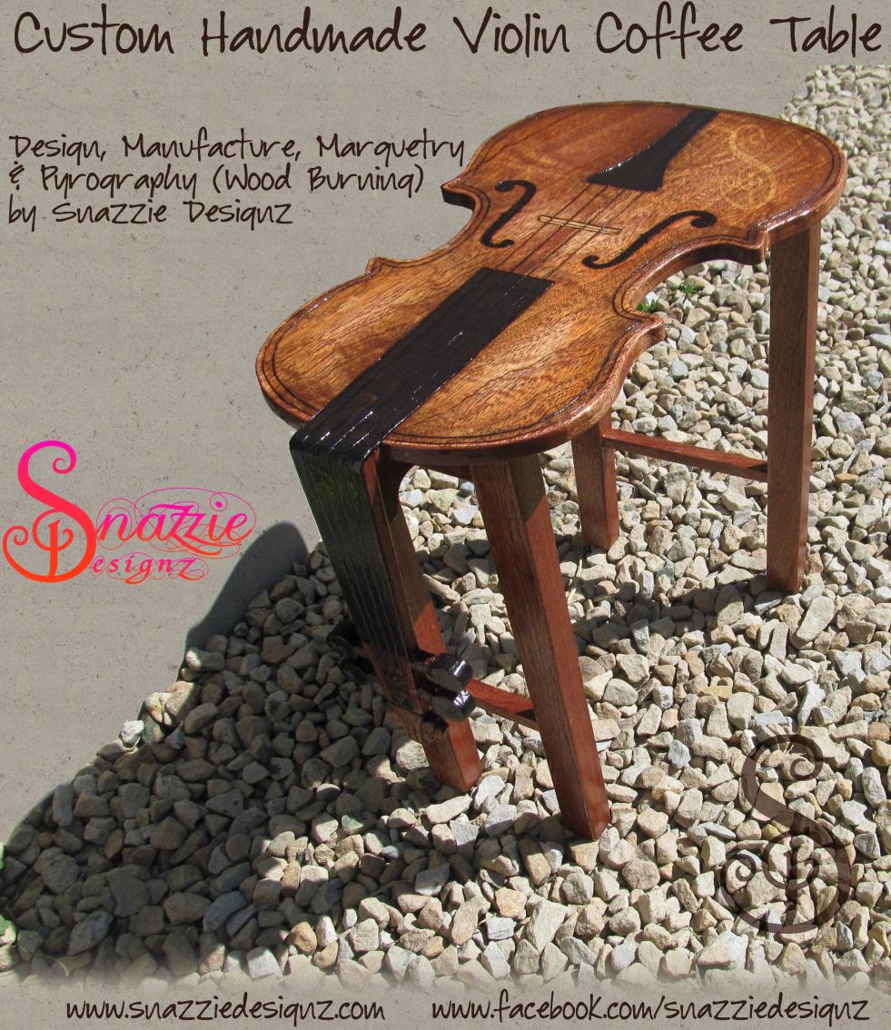 Custom Handmade Violin Coffee Table - 01