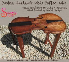 Custom Handmade Violin Coffee Table - 02