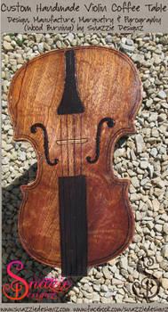 Custom Handmade Violin Coffee Table - 03
