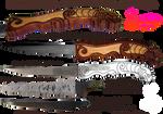Handmade Celtic Lion Knife Handle
