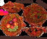 Clay Autumn  Leaf Bowl