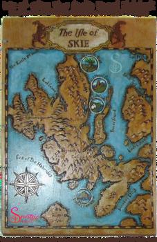 Handmade Coptic bound Isle of Skie Map 03