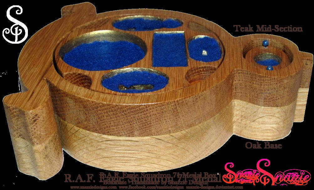 Handmade RAF Eagle Squadron Medal Box Base Profile by snazzie-designz