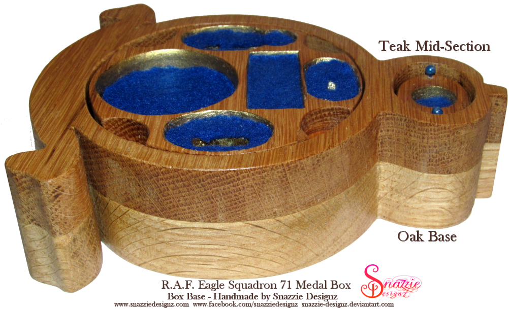 Handmade RAF Eagle Squadron Medal Box Base Profile by snazzie-designz