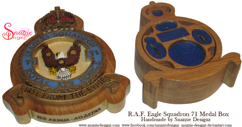 Handmade RAF Medal Eagle Squadron Box Empty by snazzie-designz