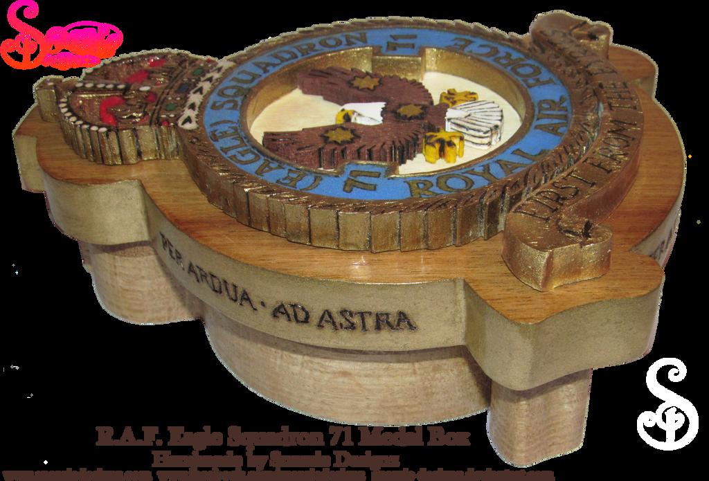 Handmade RAF Eagle Squadron 71 Medal Box Profile by snazzie-designz