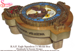 Handmade RAF Eagle Squadron 71 Medal Box Profile