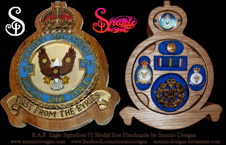 Handmade RAF Eagle Squadron 71 Medal Box by snazzie-designz