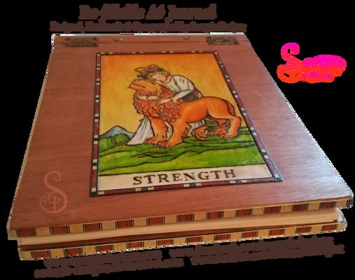 Handmade Refillable Tarot Strength Journal - End