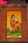 Handmade Refillable Tarot Strength Journal - Front