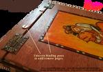 Handmade Refillable Tarot Strength Journal - Zoom