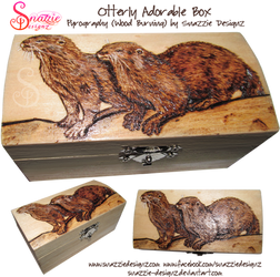 Otter Box Pyrography (Wood Burning) by snazzie-designz