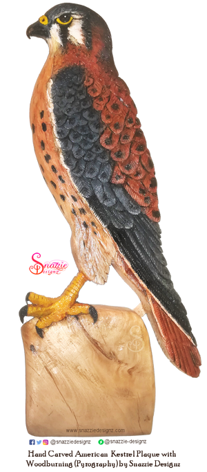 Handmade Carved Kestrel