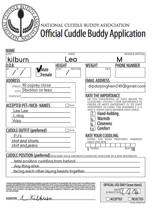 Snuggle buddy application