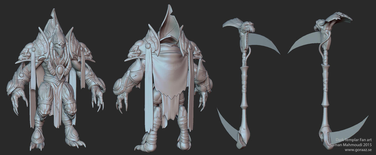 Dark Templar - Zbrush sculpt by Goraaz