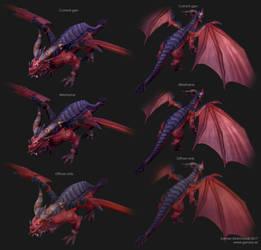 Alexstrasza Dragon form - Construction Top by Goraaz