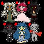 Tiny pocket adoptables: Halloween batch! [Open!]