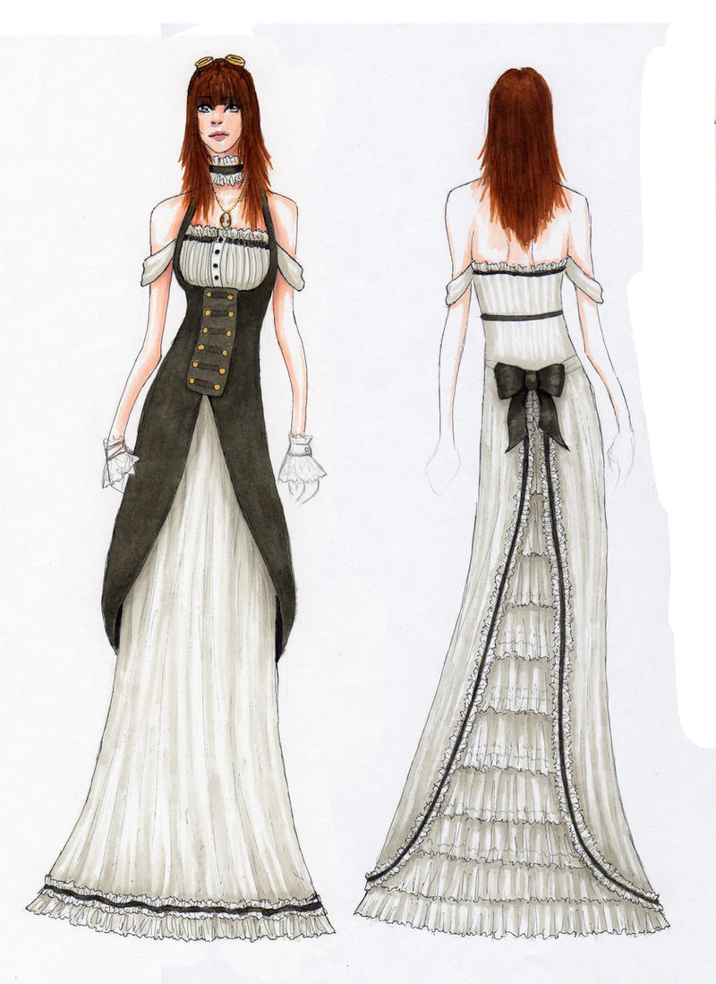 Steampunk Prom Dress by LovelyApocalypse