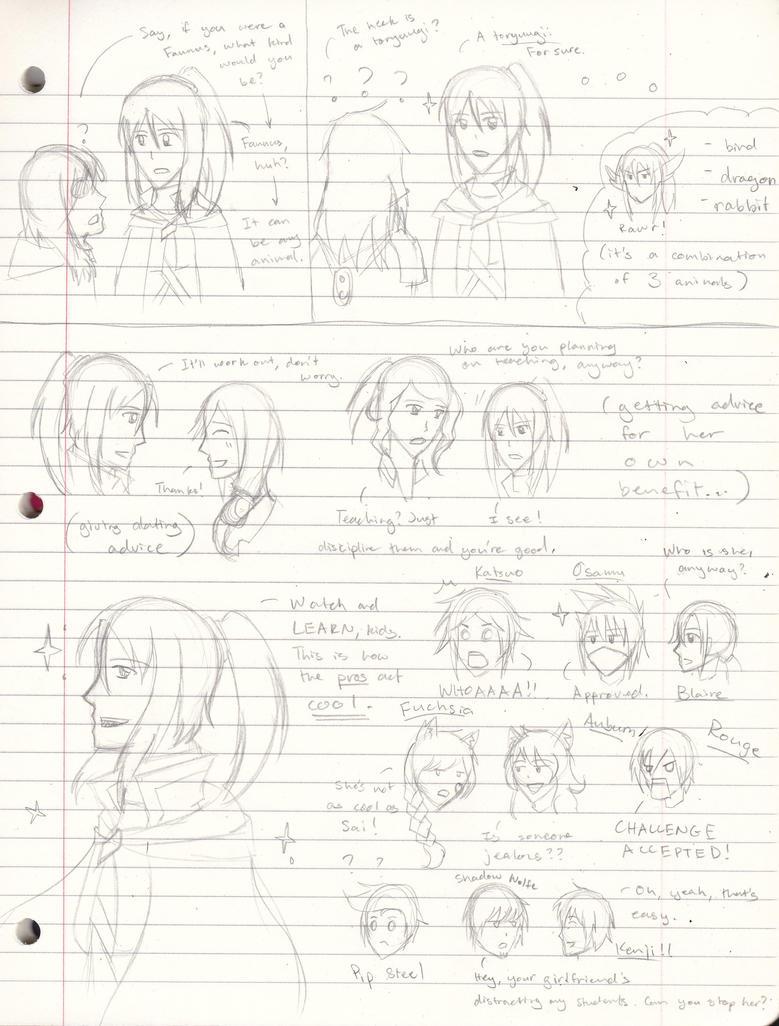 If Miyaka met RWBY OCs... by basarakami