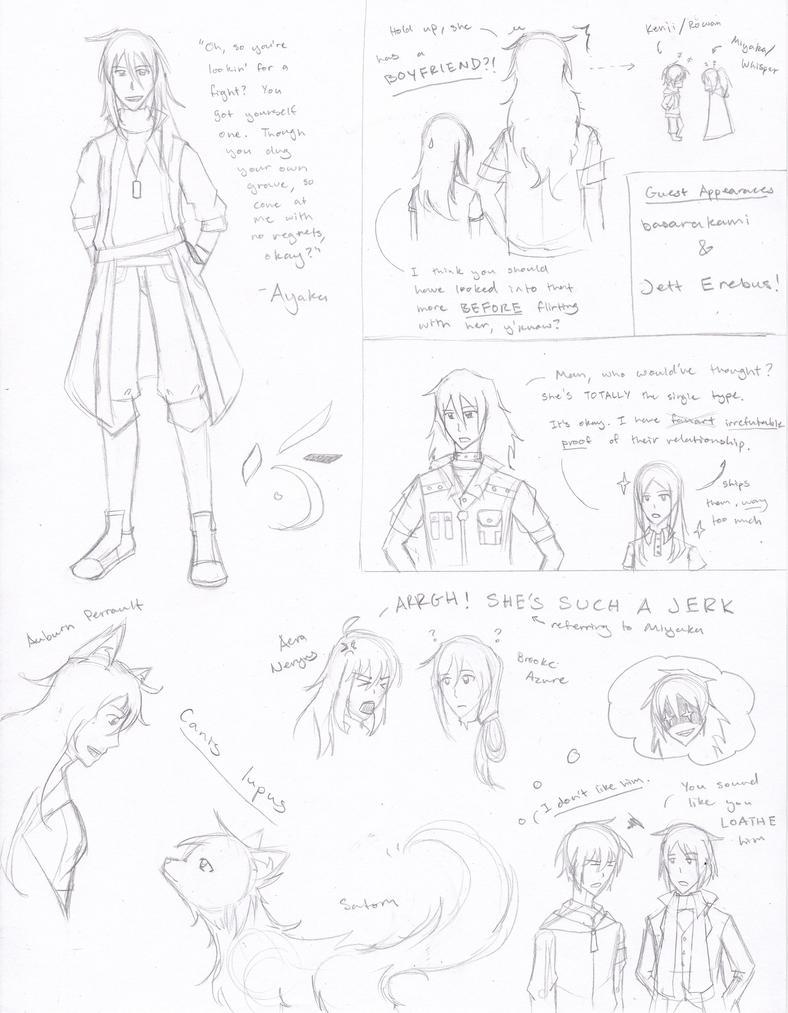 The Lost-RWBY Sketches: Seekers vs. OCs by basarakami