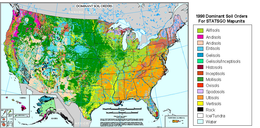 Dominant Soil Orders Map of the USALG by FringerFrankie on DeviantArt