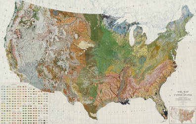 US Soil Map by FringerFrankie