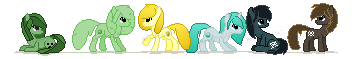 .:DOLL:. Minecraft Mane Six Banner by Bocchinocullen