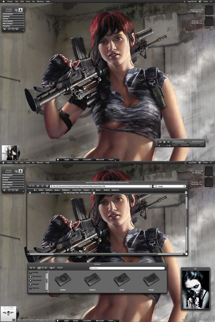 Sexy gun girl by Chrichasama