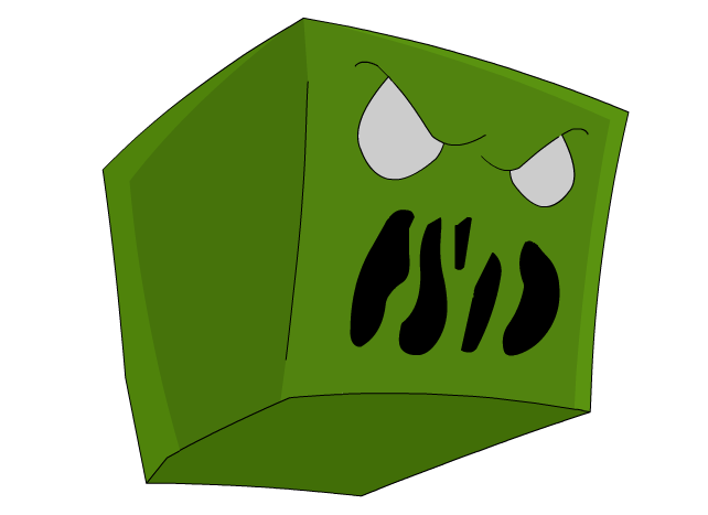 Minecraft Cartoon Creeper Head by IPodAppleID on DeviantArt