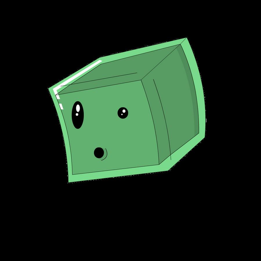 Cartoon minecraft slime by ipodappleid