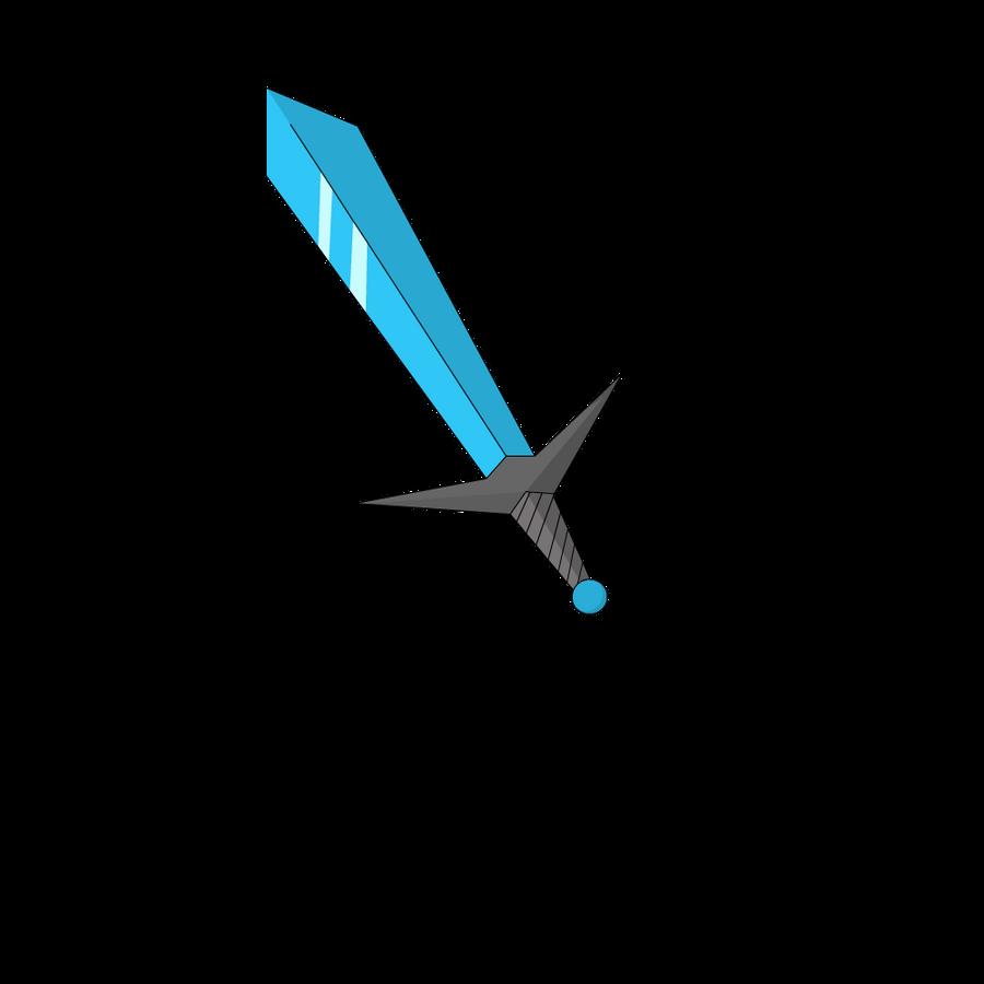 Minecraft Cartoon Diamond Sword by IPodAppleID on DeviantArt
